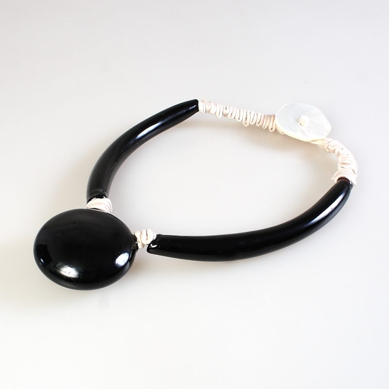 necklace venice murano glass berenice black