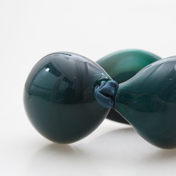 bracelet venice murano glass bette petrol green