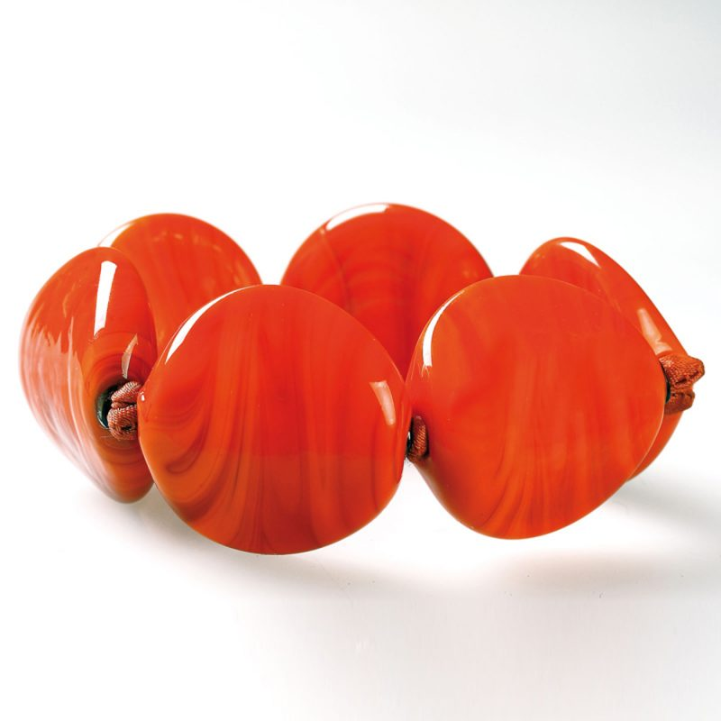 bracelet venice murano glass cecilia orange