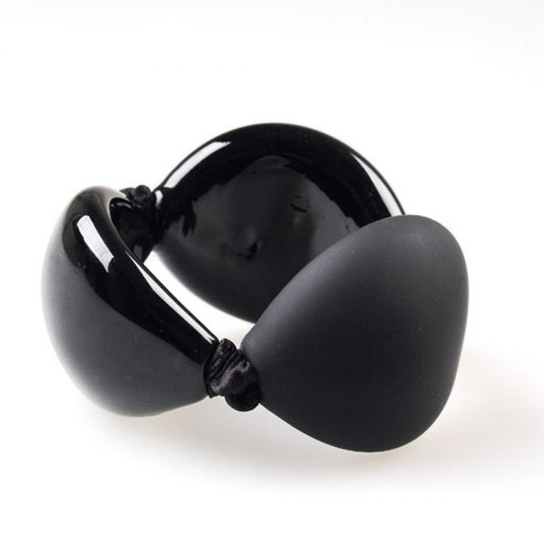bracelet venice murano glass safiya black