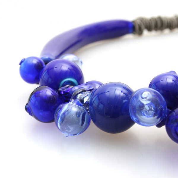 necklace venice murano glass agnese blue detail