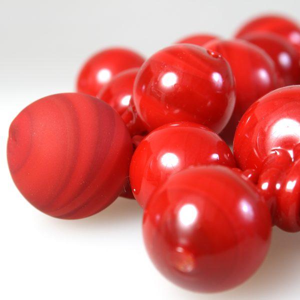 necklace venice murano glass amina red