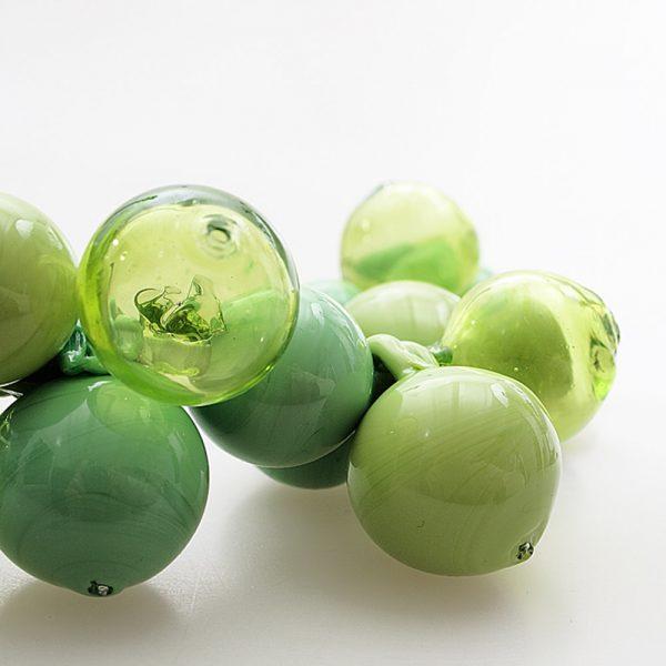 necklace venice murano glass dafne light green