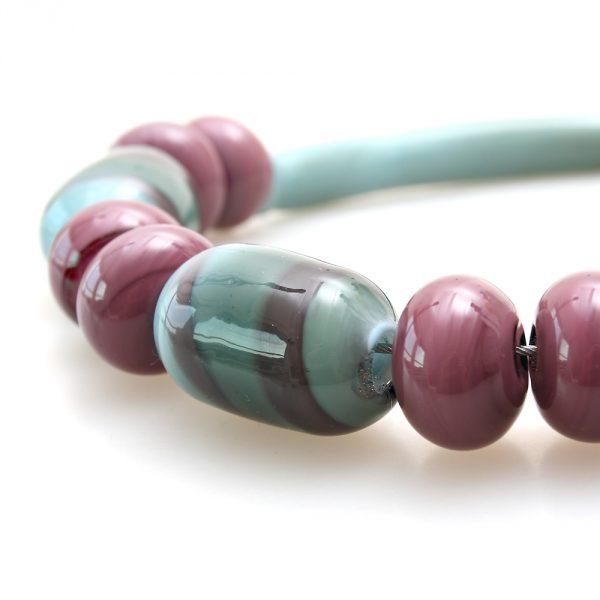 necklace venice murano glass didia amethist