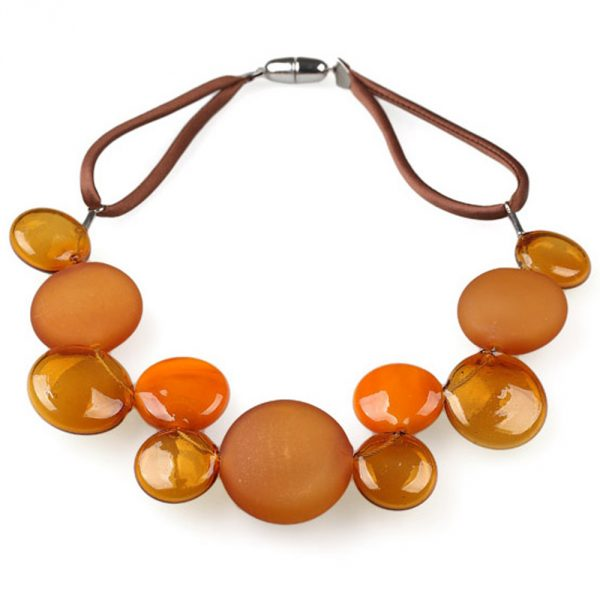 necklace venice murano glass giacinto topaz