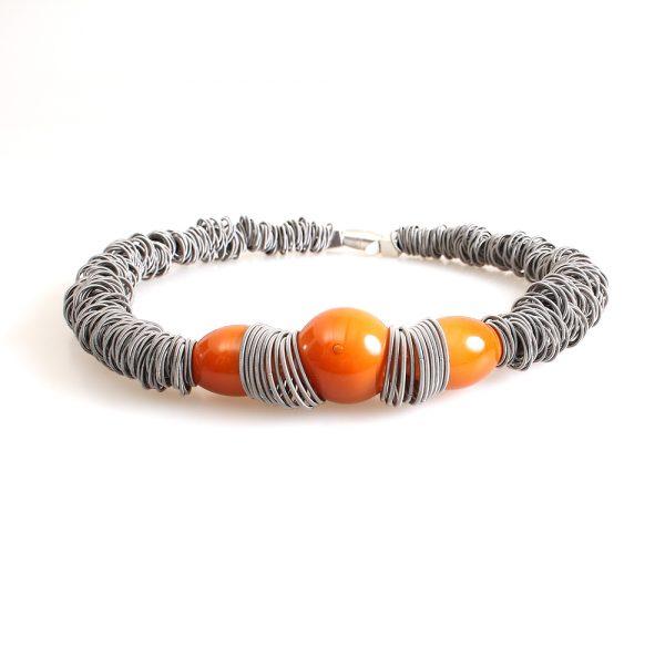 necklace venice murano glass leila topaz