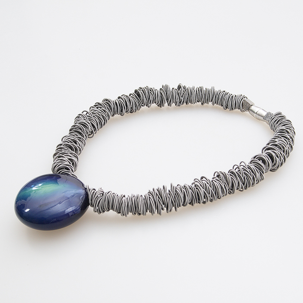 Antares Venezia Necklaces, Steel, Murano Glass, 2017, One Size
