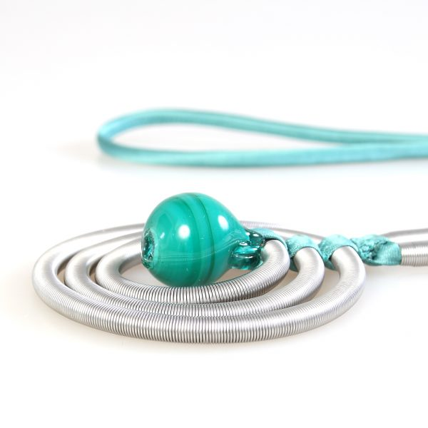 necklace venice murano glass maya emerald green
