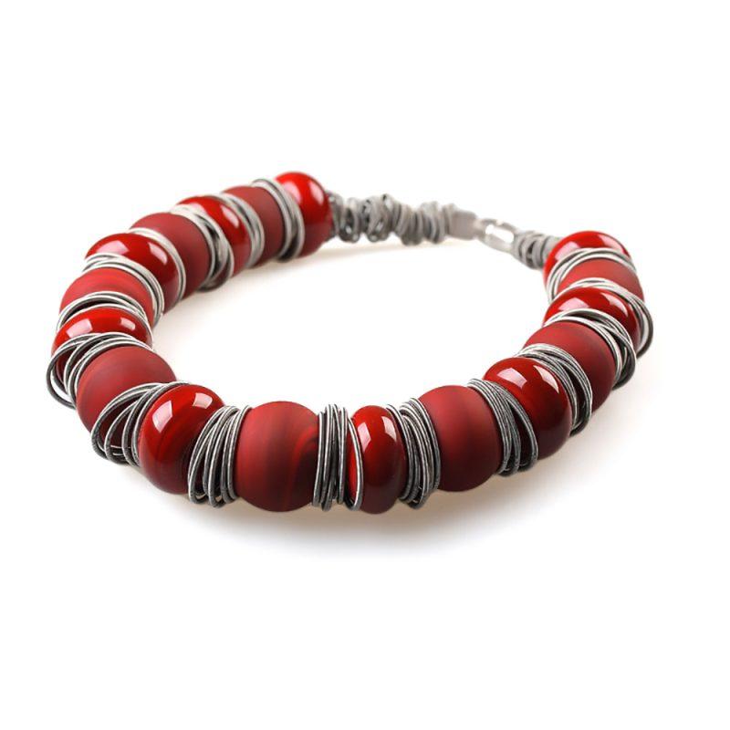 necklace venice murano glass rania red