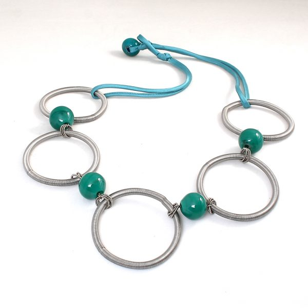 necklace venice murano glass savita emerald green