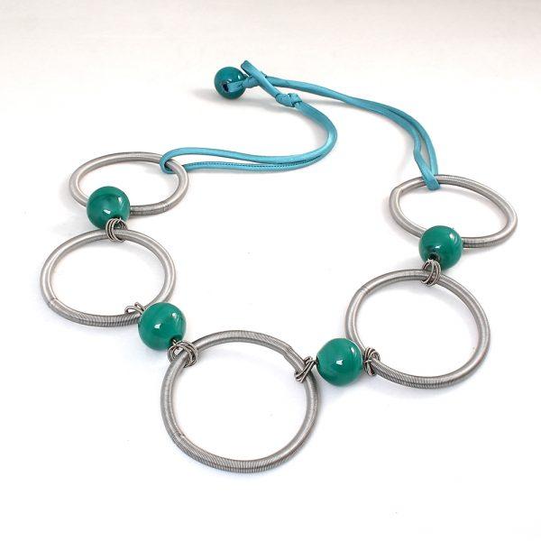 necklace venice murano glass savita emerald green