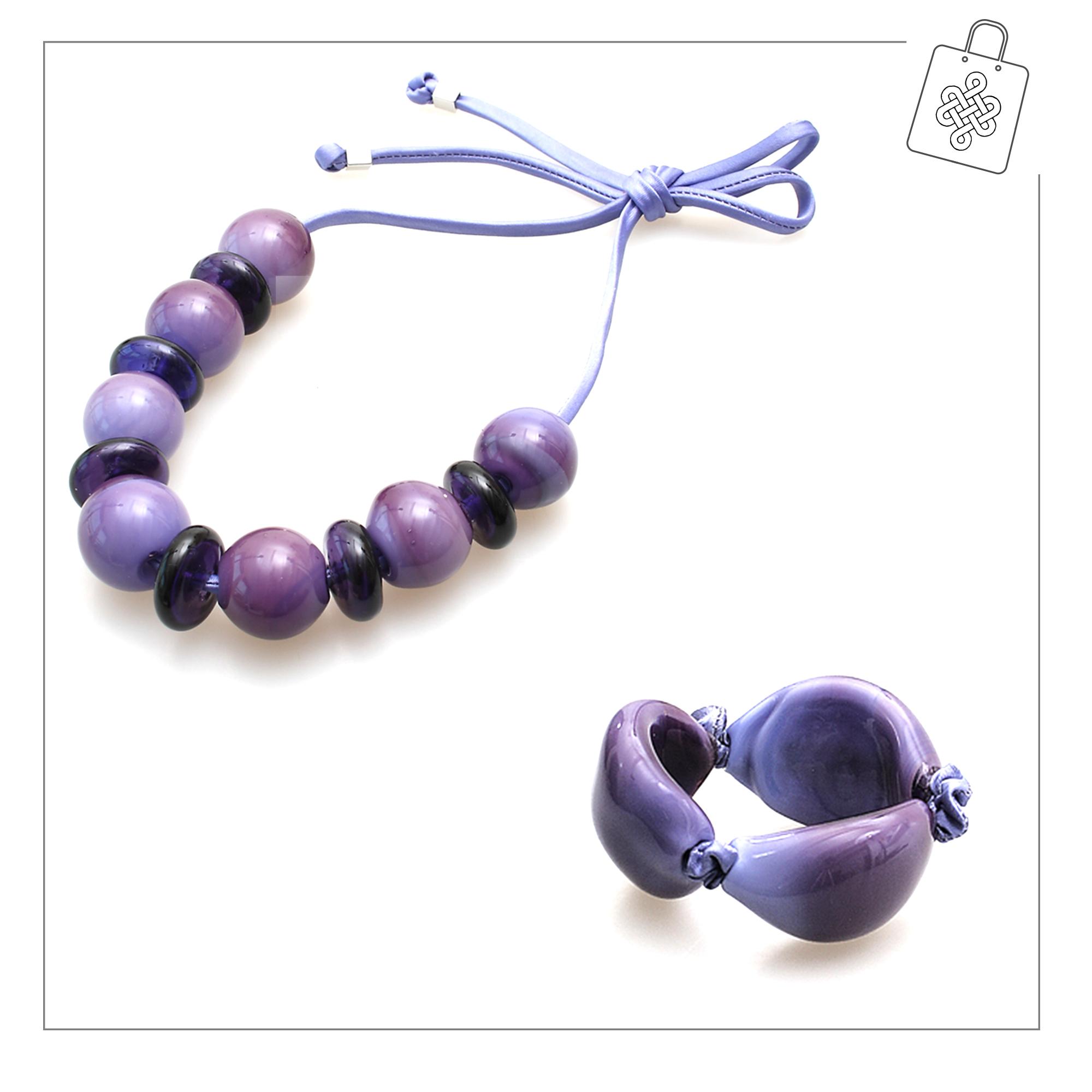 Antares Venezia Necklaces, Black, Murano Glass, 2017, One Size